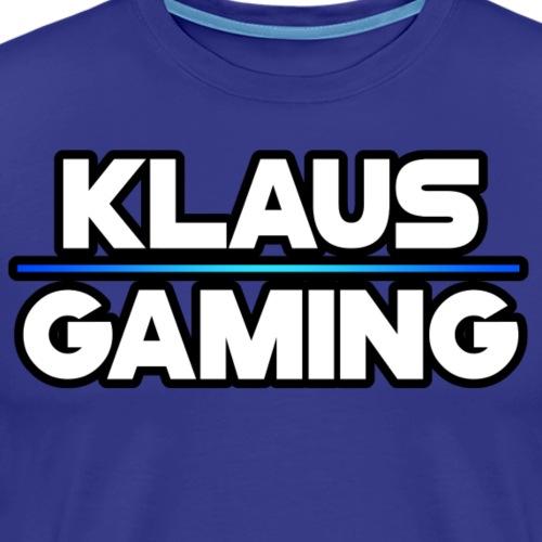 Klaus Gaming Logo Outlined - Men's Premium T-Shirt