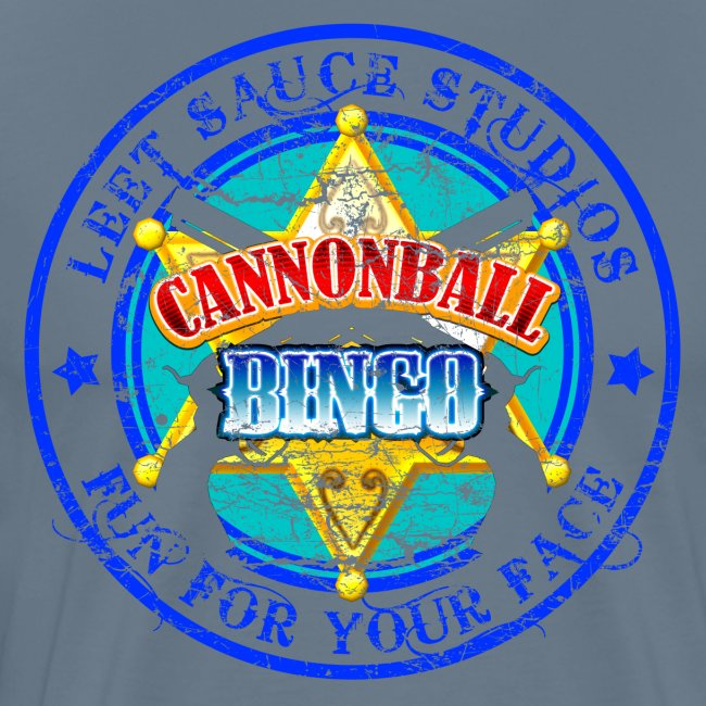 Vintage Cannonball Bingo Badge Blue