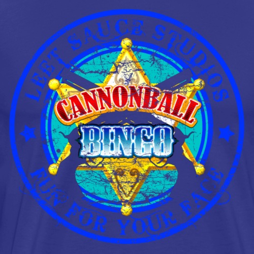 Vintage Cannonball Bingo Badge Blue - Men's Premium T-Shirt