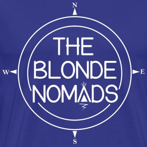 The Blonde Nomads logo WHITE - Men's Premium T-Shirt