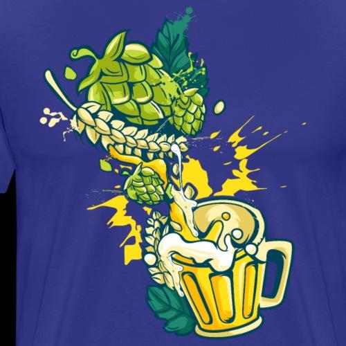 Craft Beer Hops Malt Alcohol Brewing - Men's Premium T-Shirt
