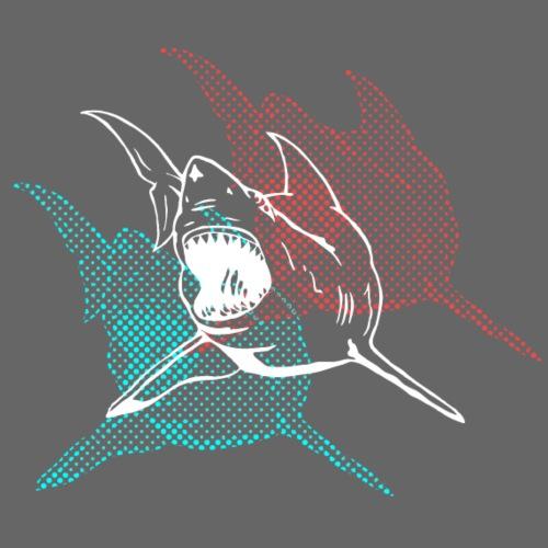 3D Glasses Shark Designer Graphic - Men's Premium T-Shirt