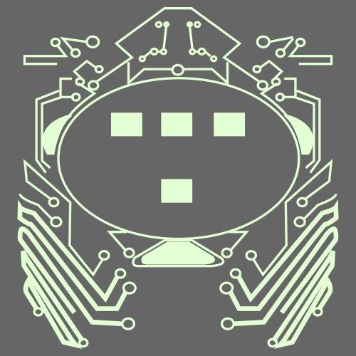 Retro 80s Tron Flex Print Design - Men's Premium T-Shirt