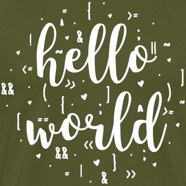 hello world one color