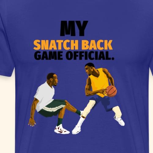 Snatch back Basketball design - Men's Premium T-Shirt