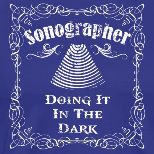 Sonographer White - Men's Premium T-Shirt