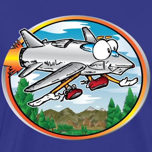 Cartoon Jet Flying - Men's Premium T-Shirt