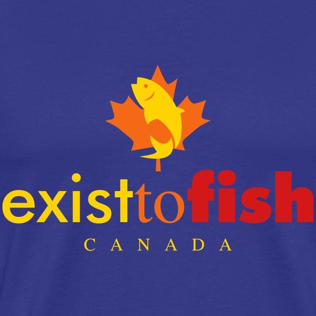 Exist To Fish Canada Color Logo