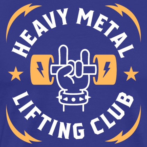 Heavy Metal Lifting Club (Yellow) - Men's Premium T-Shirt
