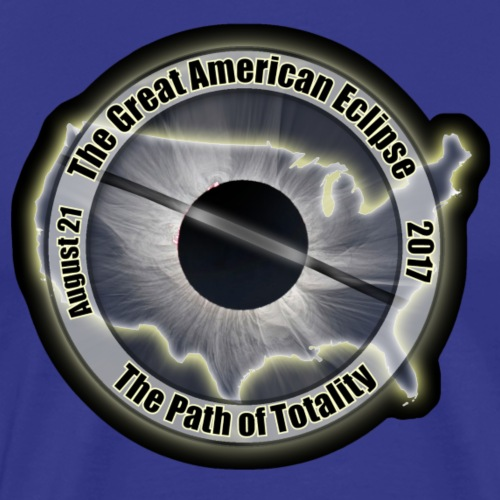 USA Great American Eclipse Path of Totality Shirt - Men's Premium T-Shirt