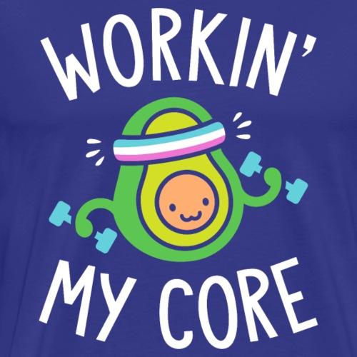 Workin' My Core (Avocado Pun) - Men's Premium T-Shirt