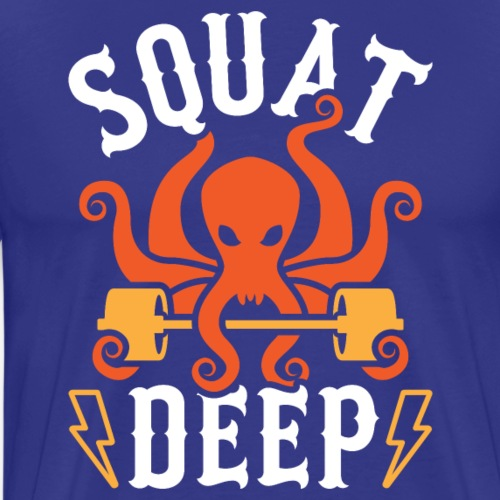 Squat Deep Kraken - Men's Premium T-Shirt