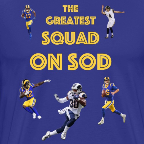 The Greatest Squad on Sod Yellow - Men's Premium T-Shirt