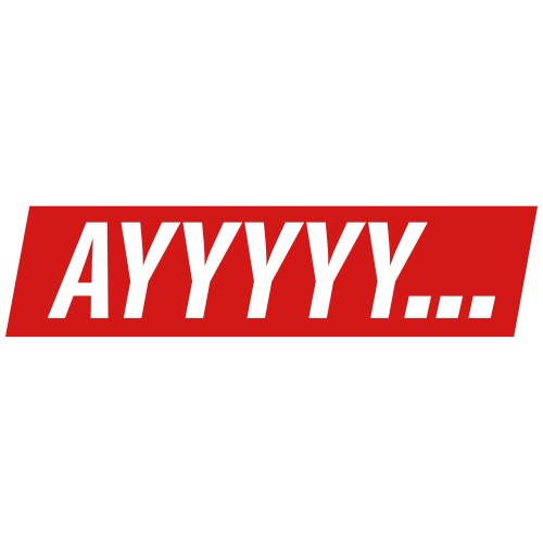 ''Ayyyyy...'' with custom background color - Men's Premium T-Shirt