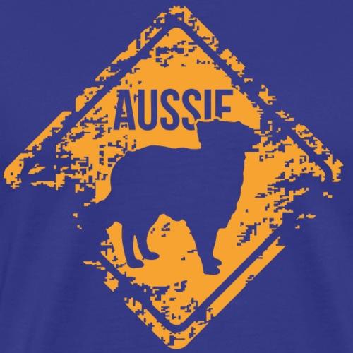 Aussie - Australian Shepherd - Men's Premium T-Shirt