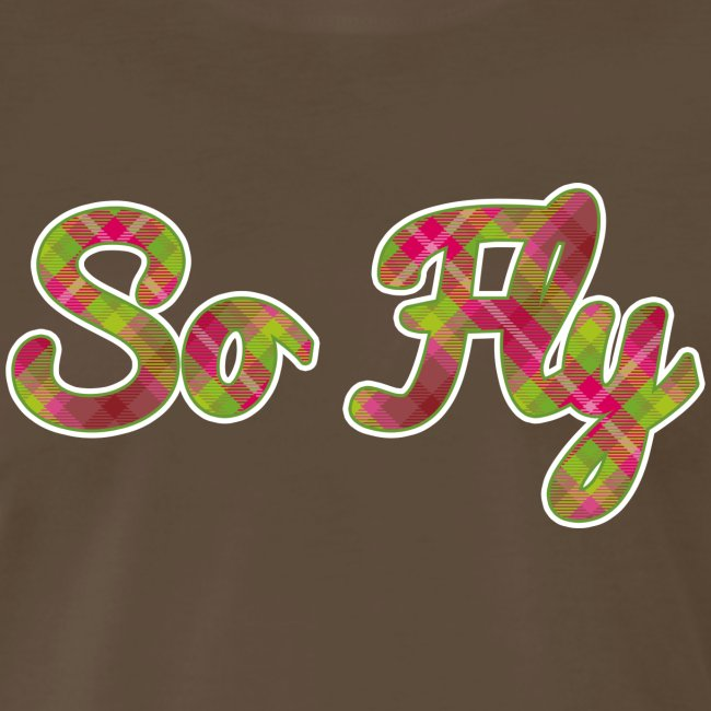 """""""So Fly"""" Pink and Green Plaid"""