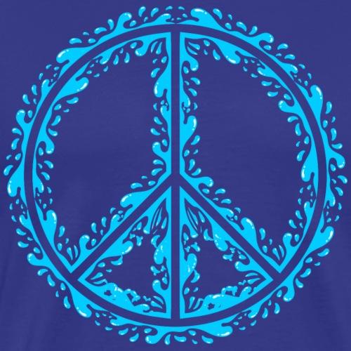 Liquid Peace Sign - Men's Premium T-Shirt