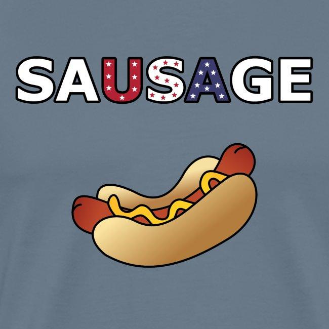 Patriotic BBQ Sausage