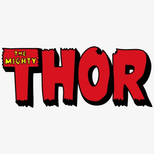 The Mighty Thor Logo (Colored) - Men's Premium T-Shirt