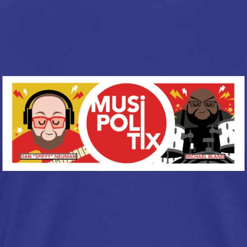 MUSiPOLiTiX Sara Banner with border and names - Men's Premium T-Shirt