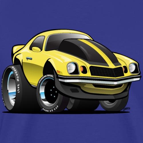 Seventies Classic American Muscle Car Cartoon