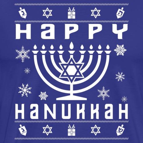 Happy Hanukkah Ugly Holiday - Men's Premium T-Shirt