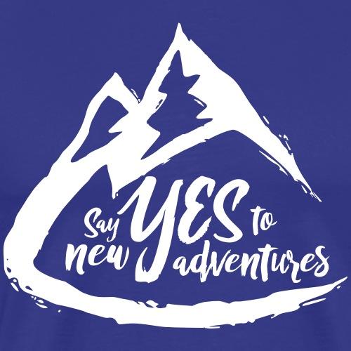 Say Yes to Adventure - Light - Men's Premium T-Shirt