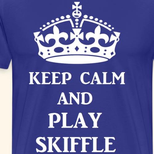 keep calm play skiffle wh - Men's Premium T-Shirt