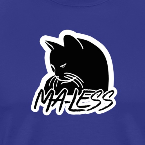Ma-less Black & White Logo - Men's Premium T-Shirt
