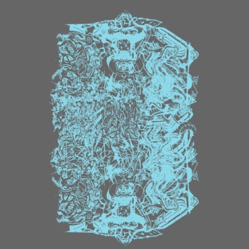 Cool Baby Blue Graffiti Design - Men's Premium T-Shirt