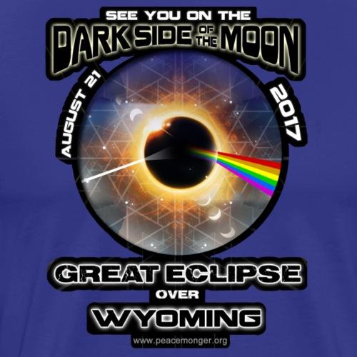 Wyoming Dark Side of the Moon Great Eclipse Shirt - Men's Premium T-Shirt