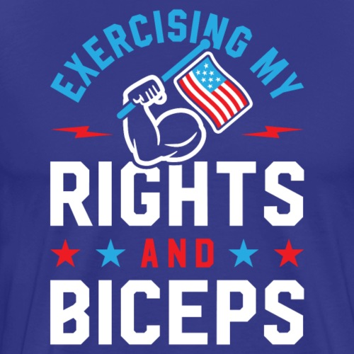 Exercising My Rights And Biceps v2 - Men's Premium T-Shirt
