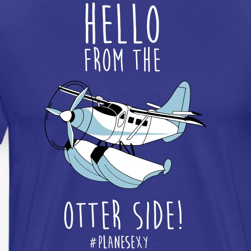 Hello From the Otter Side! - Men's Premium T-Shirt