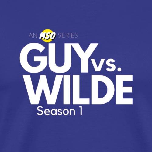 White Guy vs Wilde Logo - Men's Premium T-Shirt