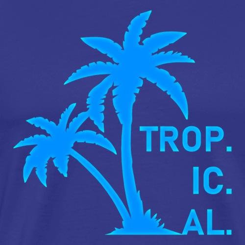 Trop. Ic. Al. (Blue) - Men's Premium T-Shirt