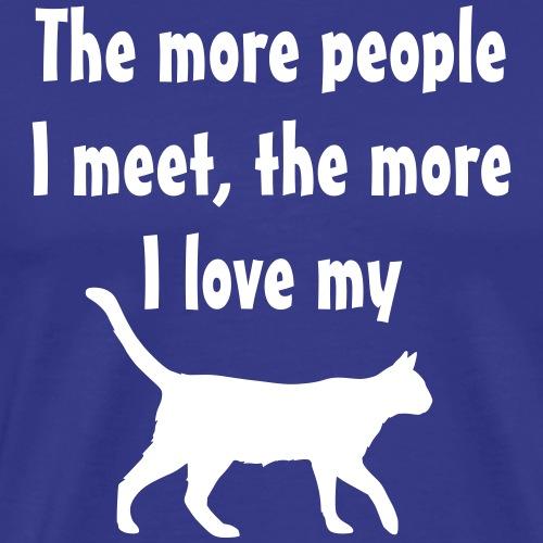 I love my cat - Men's Premium T-Shirt