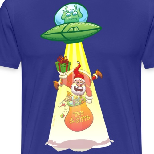 Santa Claus Abducted by an Alien - Men's Premium T-Shirt