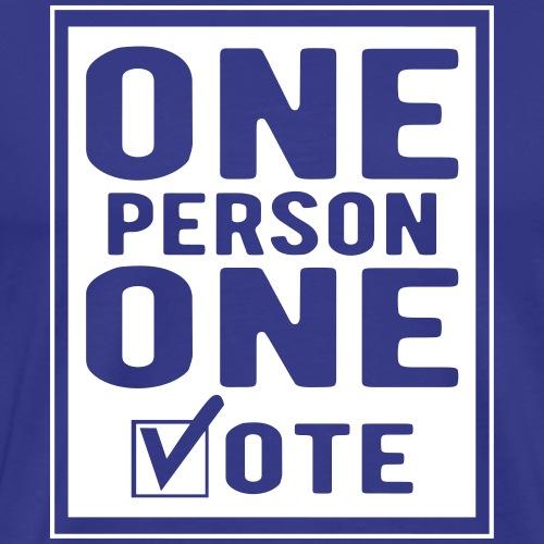One Person One Vote - Men's Premium T-Shirt