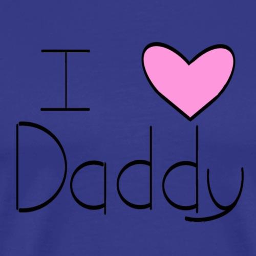 Pink I Heart Daddy - Men's Premium T-Shirt