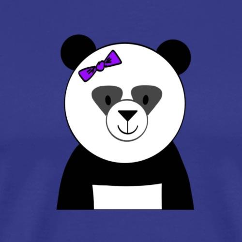 Panda with Bow - Men's Premium T-Shirt