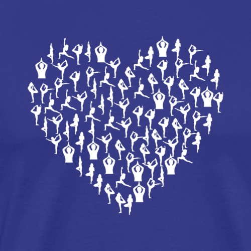 Yoga Heart Edition White Version - Men's Premium T-Shirt