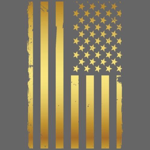 Golden american flag - Men's Premium T-Shirt