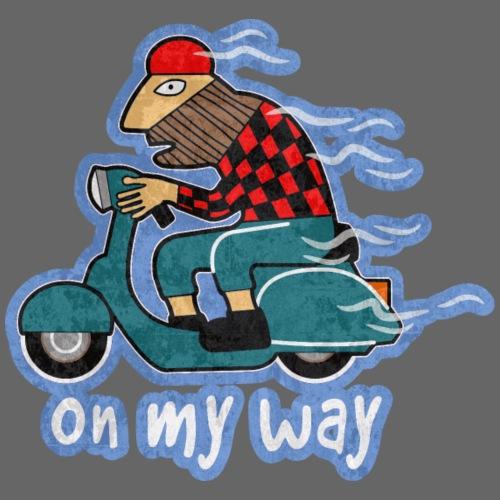 On my way. - Men's Premium T-Shirt