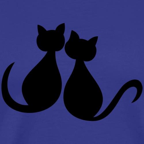 Cuddly cats. Loving cats. Meow. - Men's Premium T-Shirt