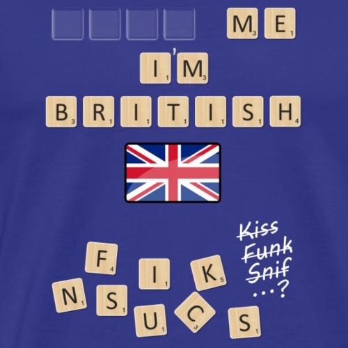Scrabble me I'm British - White version - Men's Premium T-Shirt