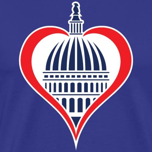 Washington DC Capitol Dome with Heart - Men's Premium T-Shirt