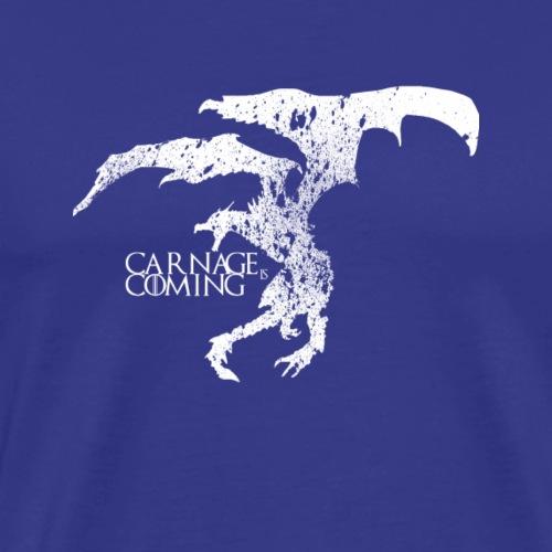 Carnage is Coming (white) - Men's Premium T-Shirt