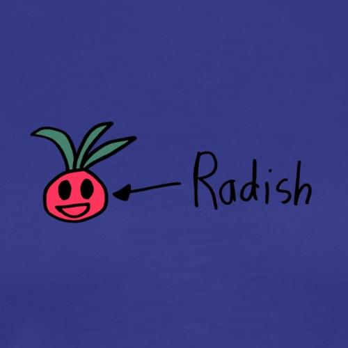 Radish, Black Outline (tshirts) - Men's Premium T-Shirt