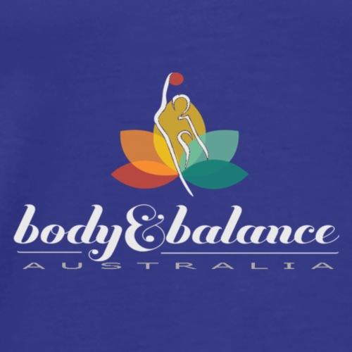 Body and Balance Australia logo text white - Men's Premium T-Shirt