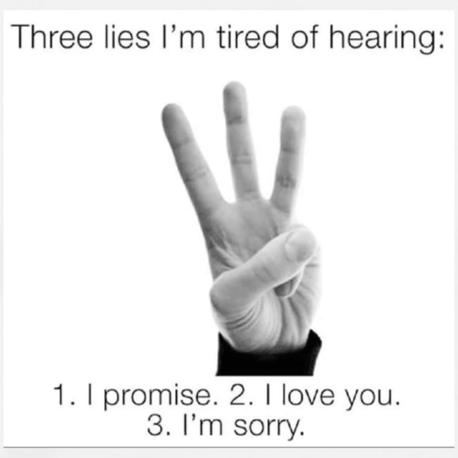 People really get tired of hearing them 3